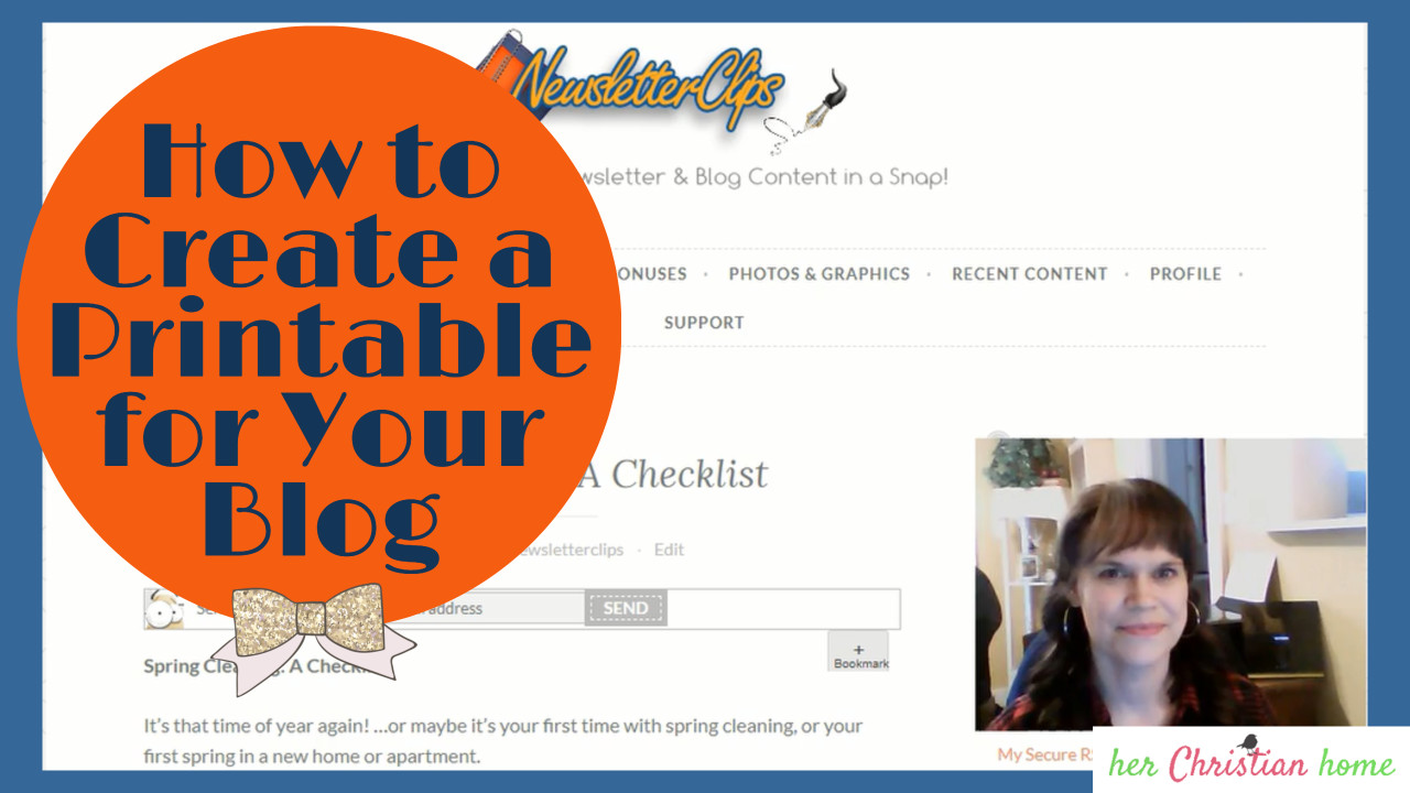How to Create a Printable for Your Blog