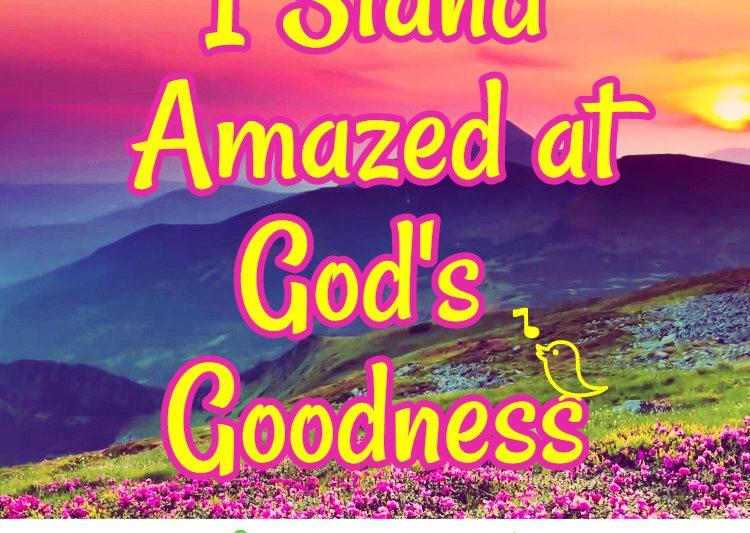 I stand amazed at God's goodness #devotional #devotionalforwomen