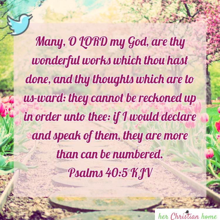 Bible Verse: Psalm 40:5 KJV