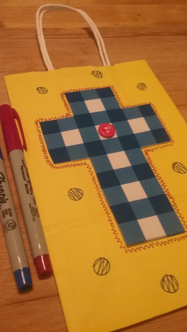 Upcycle DIY Gift Bags - Cross