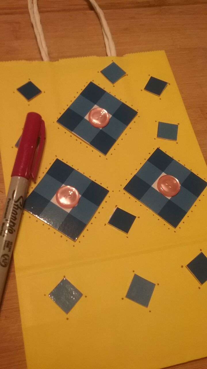 Upcycle DIY Gift Bags - Cute Squares