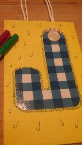 Upcycle DIY Gift Bags - Monogram