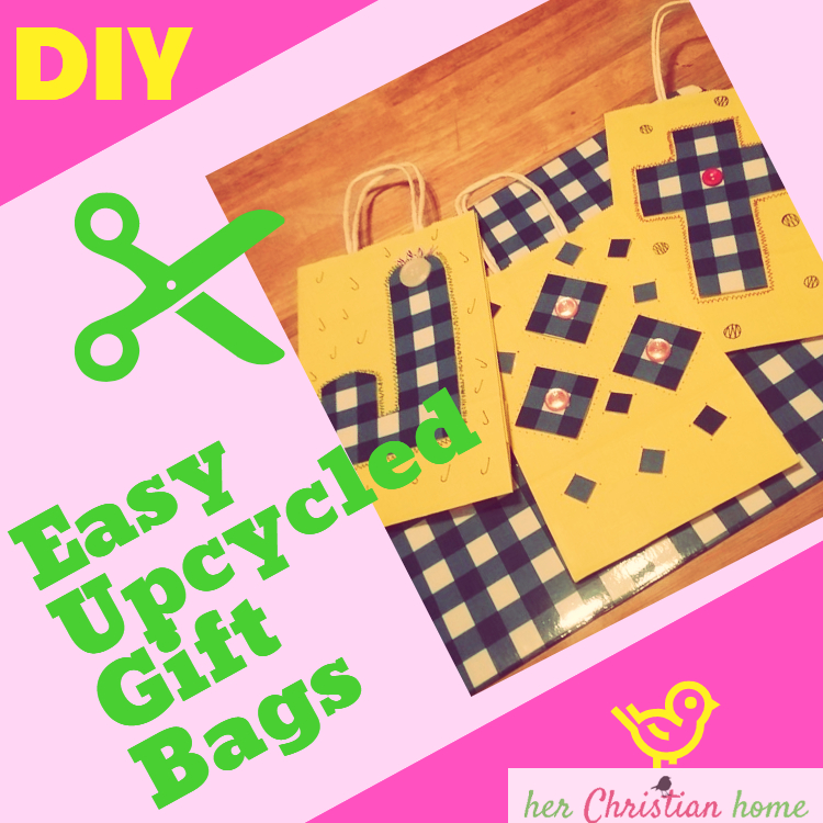 Easy Upcycled DIY Gift Bags