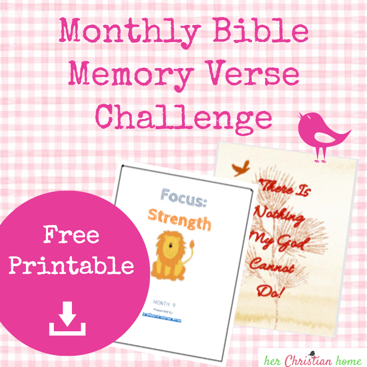 Bible memory verse challenge STRENGTH