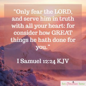 Only fear the Lord and serve Him in Truth I Samuel 12:24 KJV #bibleverses #kjv