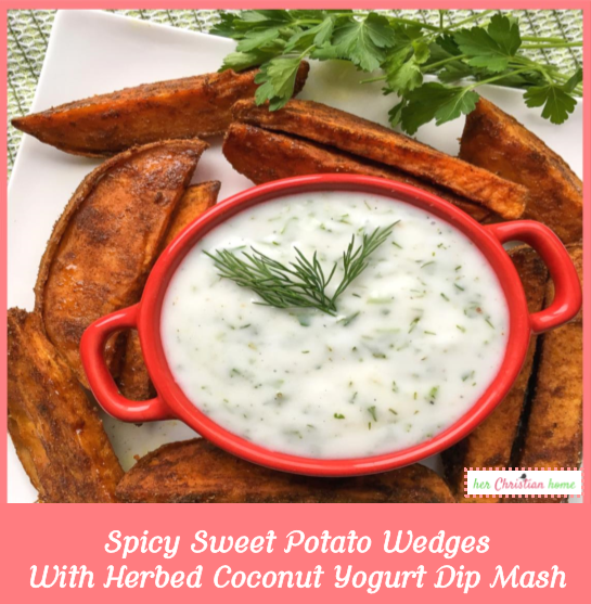Spicy Sweet Potato Wedges #sweetpotatorecipes #sidedishes