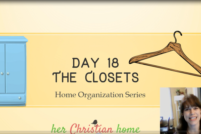 How to Organize Your Closet Space #homeorganizationseries #howtoorganize