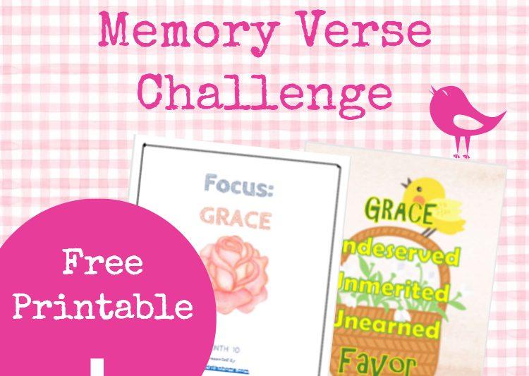 Monthly Bible Memory Verses Grace #bibleverse #memoryverses