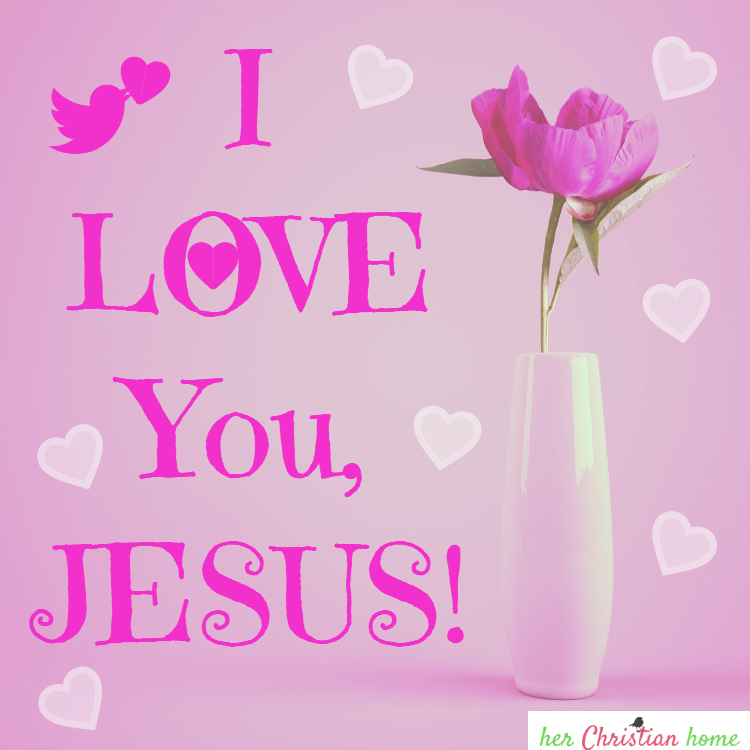 I love you Jesus image
