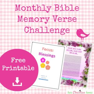 monthly memory verses blessings