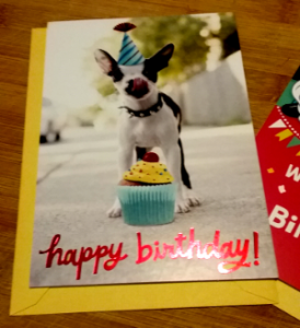 Greeting card for dog lovers