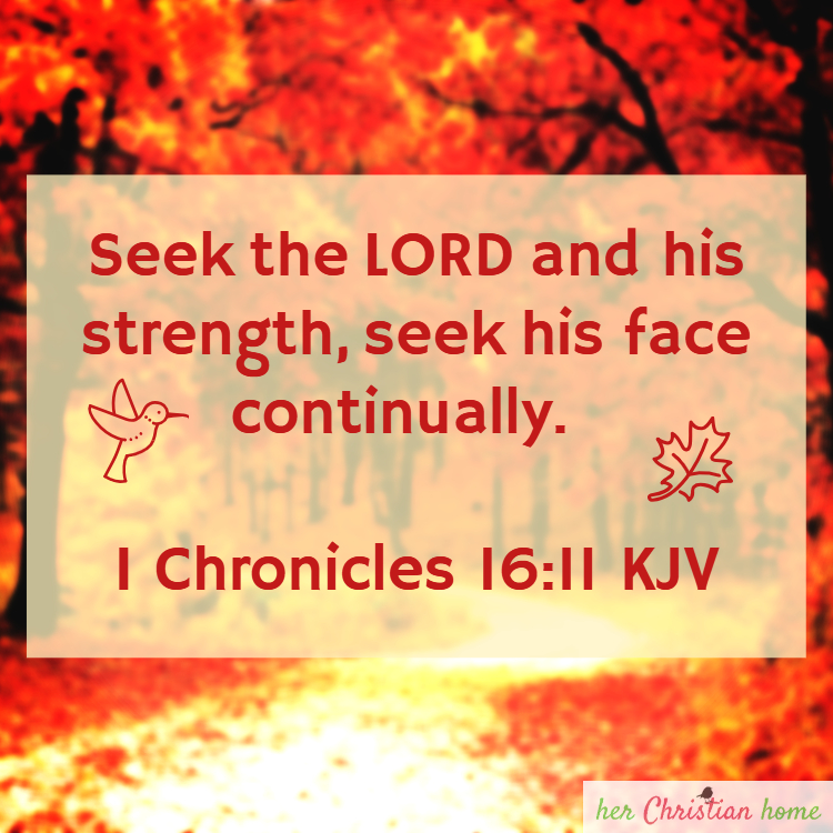 Seek the Lord - I Chronicles 16:11 KJV #bibleverses