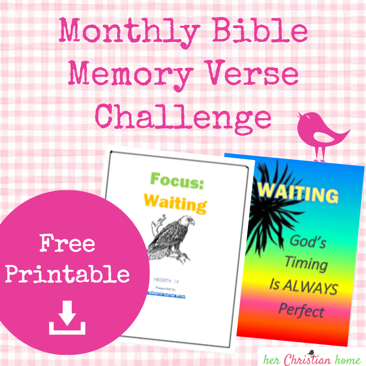 Monthly Bible Memory Verse Challenge – Month 14 – WAITING