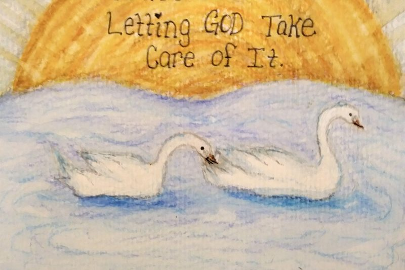 You're better off letting God take care of it. #watercolorart #swanart