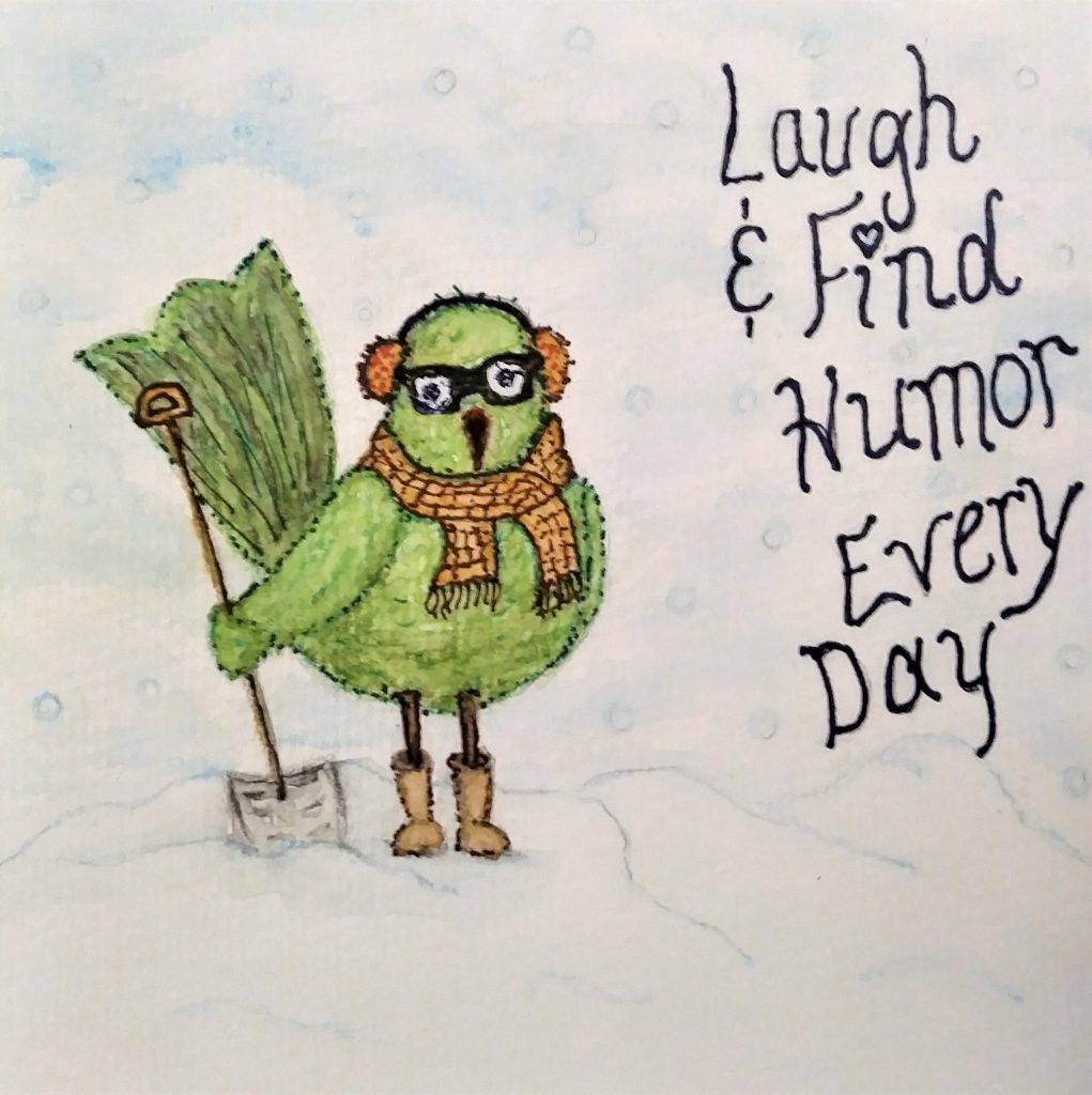 Laugh and find humor every day - watercolor art by herchristianhome.com