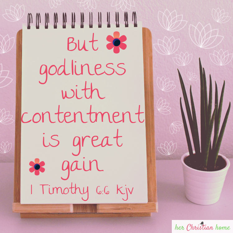 But godliness with contentment is great gain. I Timothy 6:6 kjv