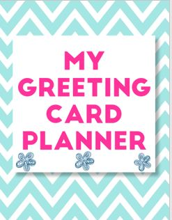 FREE Printable Greeting Card Planner