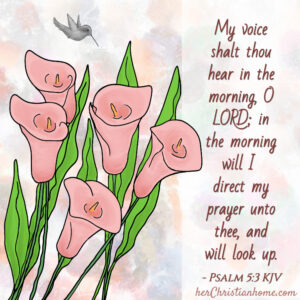 My voice shalt thou hear in the morning Psalm 5:3 kjv