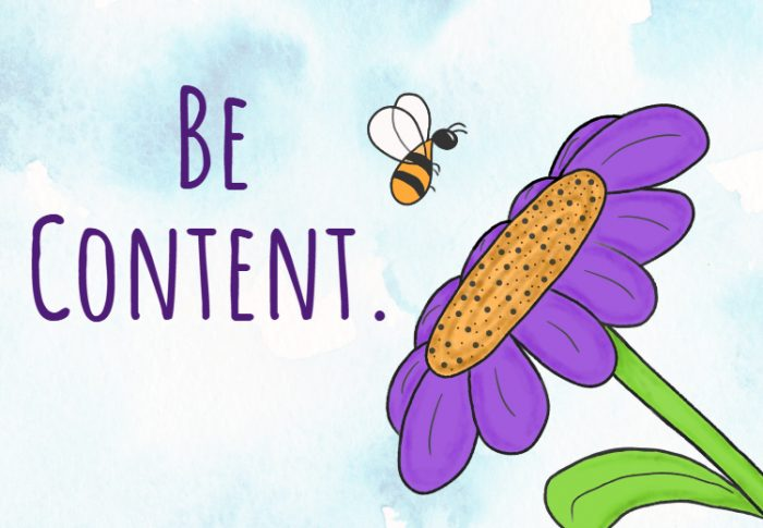 Be Content.