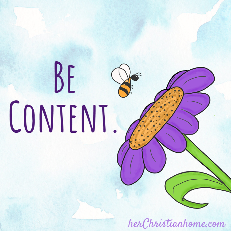 Be content devotional