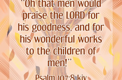 Oh that men would praise the Lord