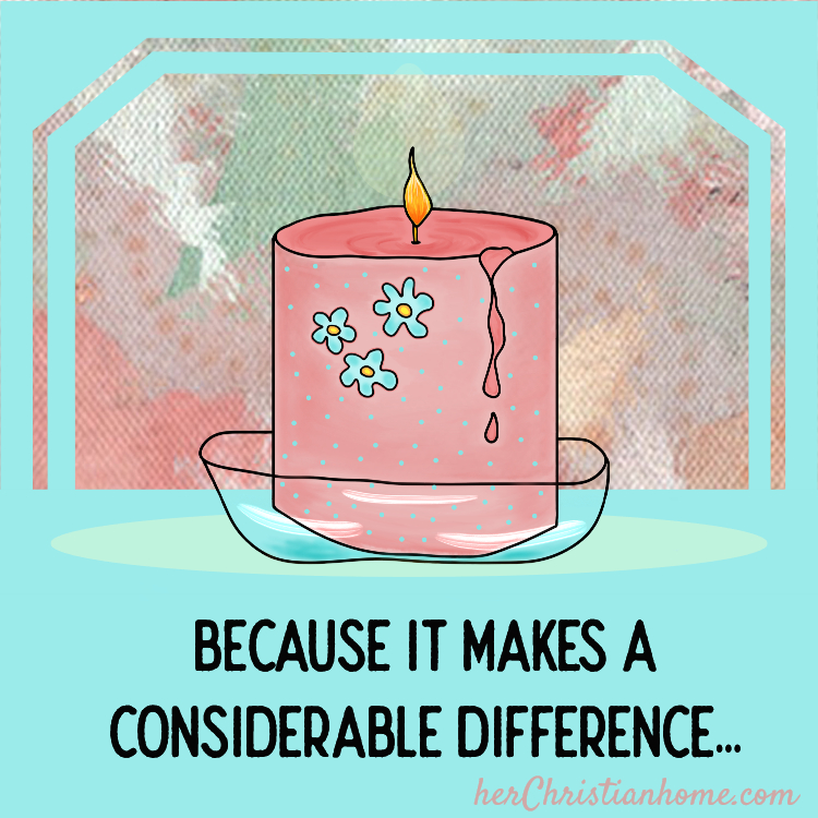Because it makes a considerable difference - Christian devotional blog title image