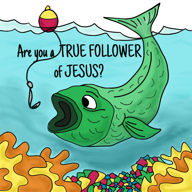 Are you a true follower of Jesus? Devotional Image Title